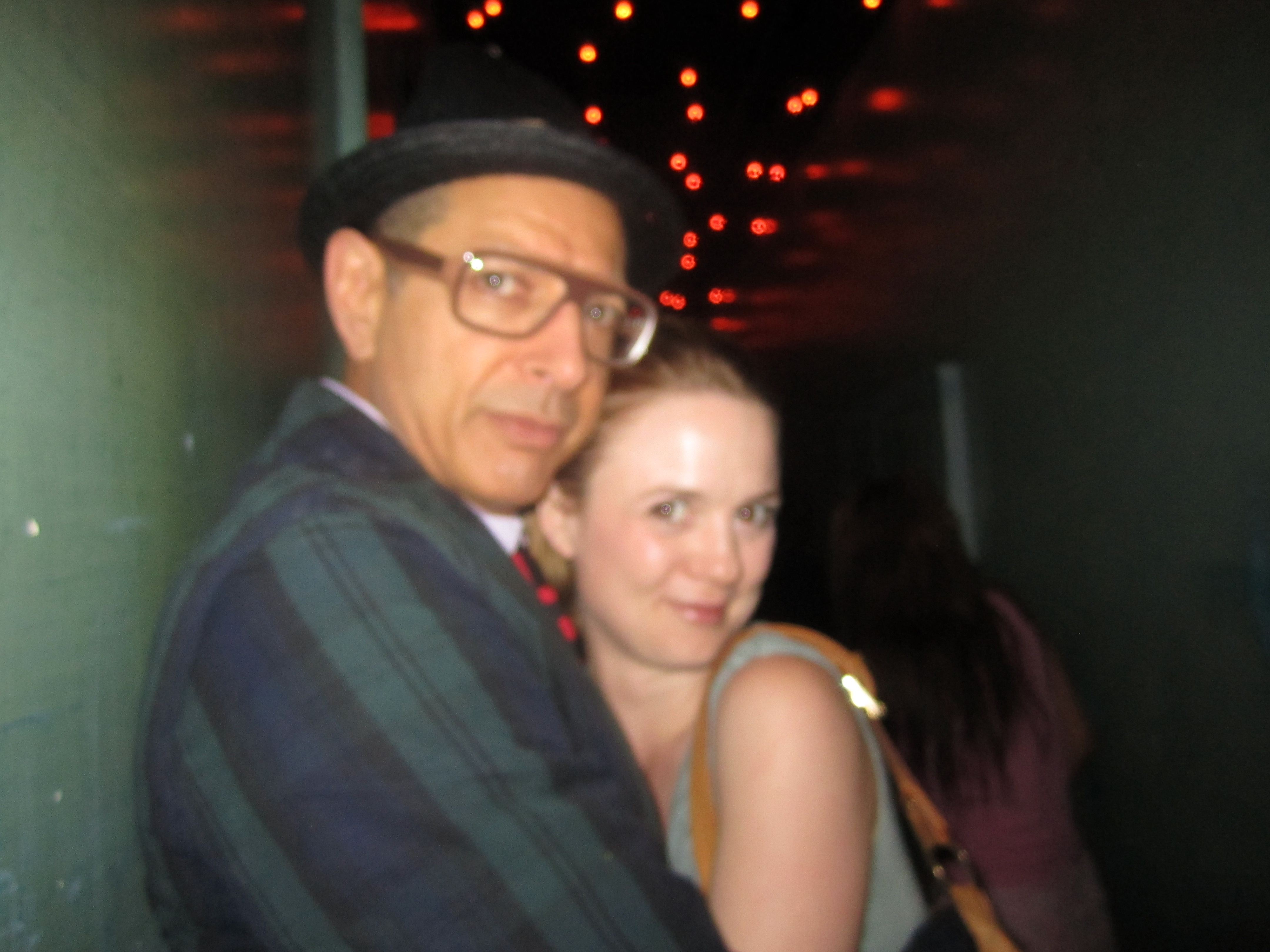After a sing-song with the one and only Jeff Goldblum